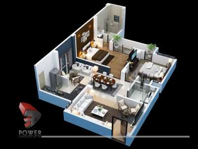 3d rendering services cut section 3d visualization services