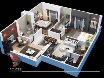 architectural 3d rendering cut section animation 3d company