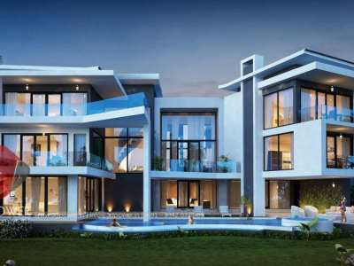 3d-exterior-rendering-bungalow-architectural-rendering-bungalow-eye-level-view-bungalow-evening-view