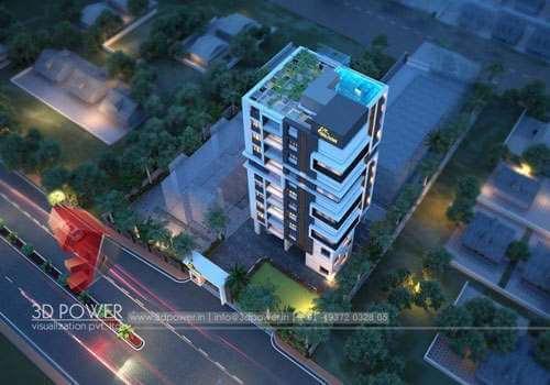 3d highrise building elevation designs